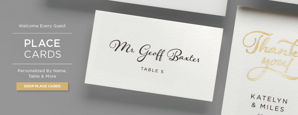 place cards banner