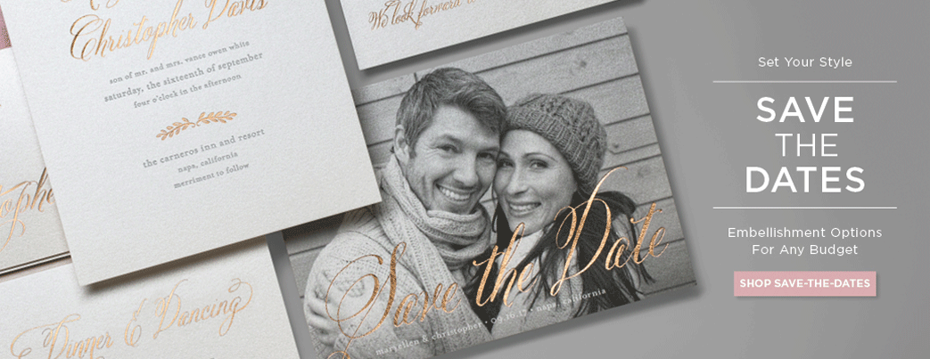 shop save the date cards