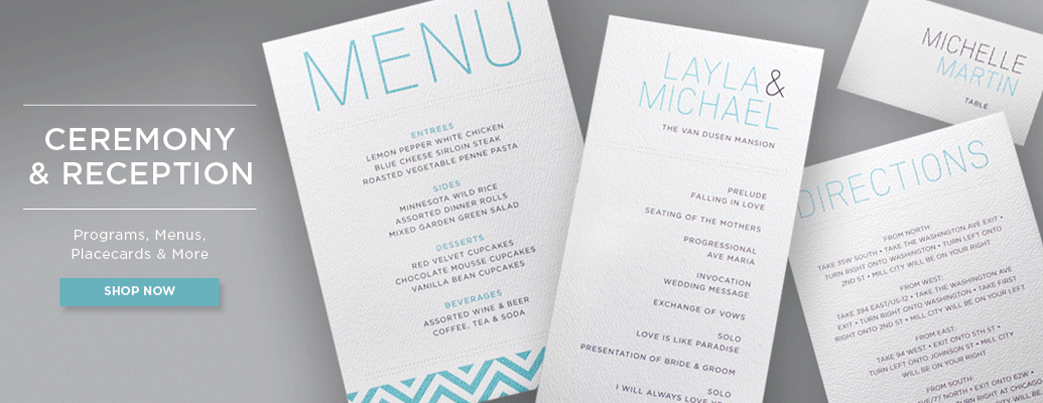 ceremony cards