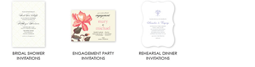 shower invitations cards 4 columns