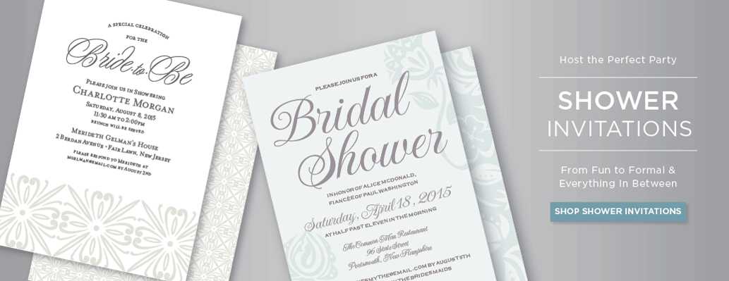 wedding shower invitations banner